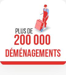Plus de 200 000 déménagements